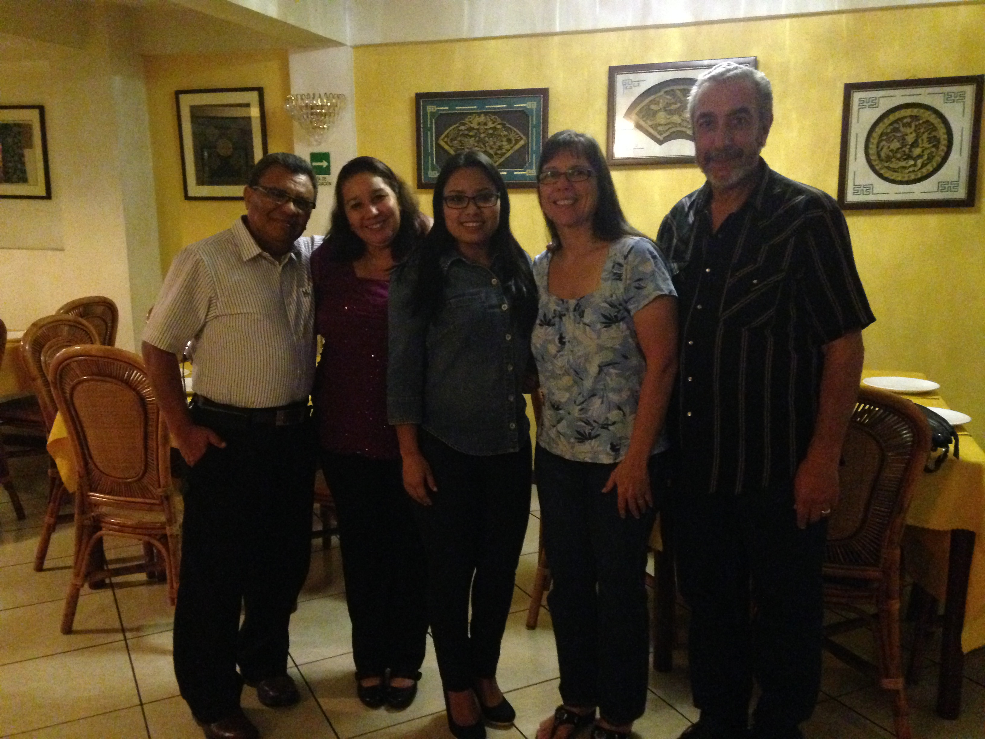 Pastor Gabriel, Sister Berali and Gabriela, with Luan & Ron