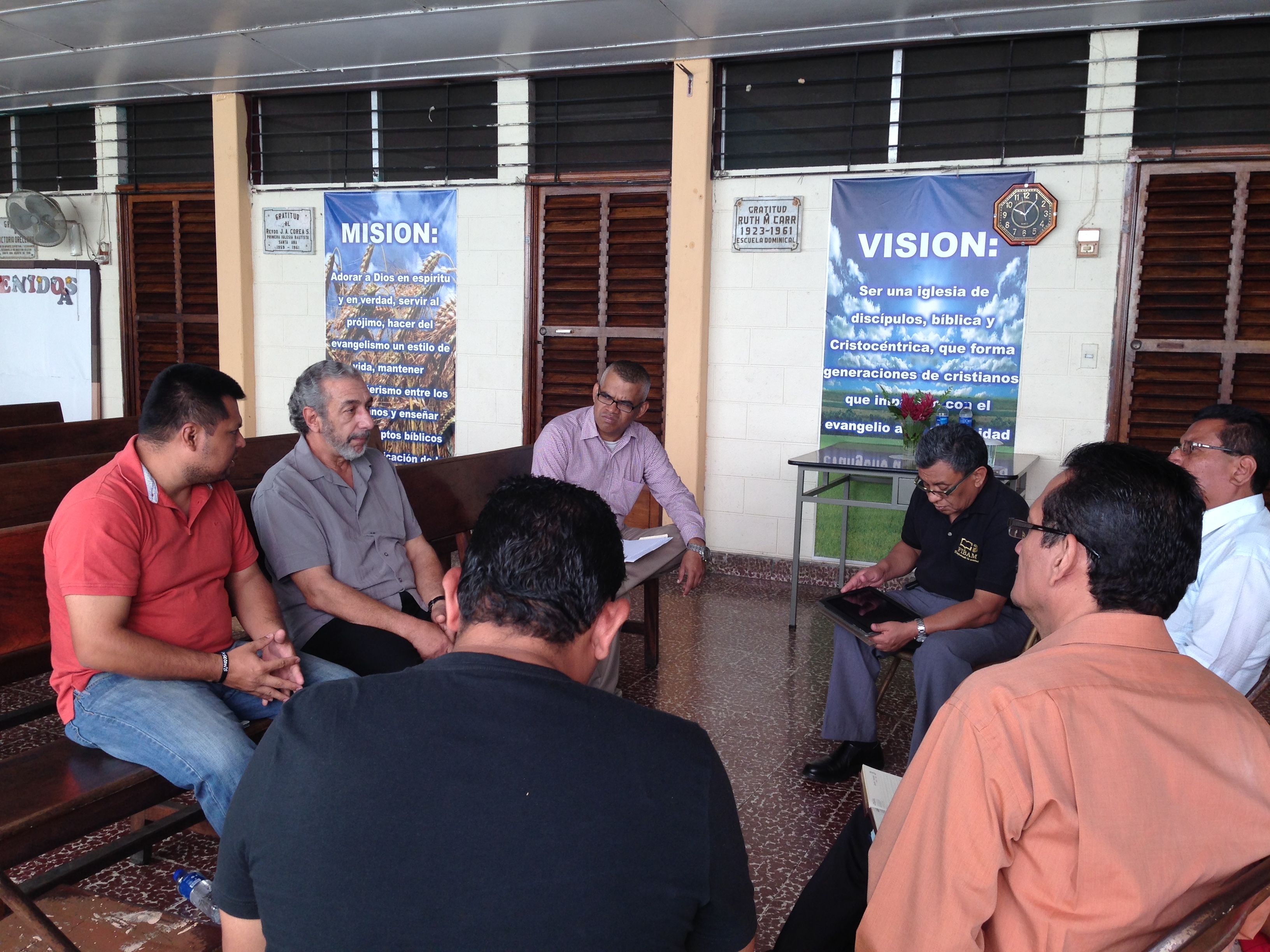 Meeting with Pastor Group in Santa Ana